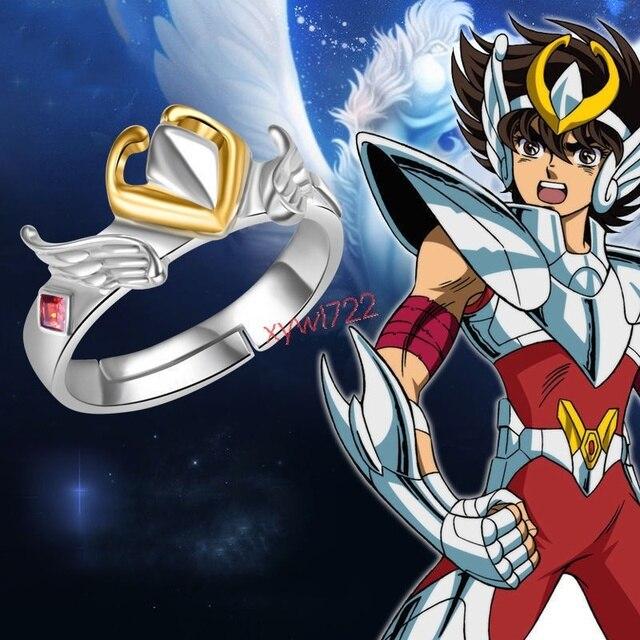 Saint Seiya: Truyền Thuyết Của Khu Bảo Tồn Anime Có Thể Điều Chỉnh S925 Sterling Sliver Nhẫn Quà Tặng