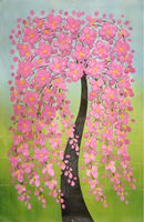 2015 Лидер продаж 100% расписанную розовый цветок дерева Палитры Ножи холст картины новый Дизайн картина стены Книги по искусству для украшени...