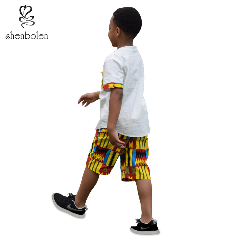 African Children Clothing For boy african summer boy wear Ankara Shirt Tradition Tops Pant sets Cool boy summer kids Clothes in Africa Clothing from Novelty Special Use