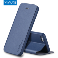 X Level Business Style PU Leather Flip Phone Case For Apple IPhone 5 5s Se 4