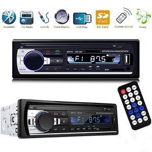 Image 2 - 1 PC de coche Bluetooth receptor estéreo de radio 1 din coche Mp3 USB reproductor de sintonizador de FM Multimedia Auto subwoofer electrónica para coche