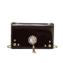 2019 Amarte Women New Fashion Chain Diagonal Package Tassel Pearl Single Room Simple Large Capacity Luxury Handbags