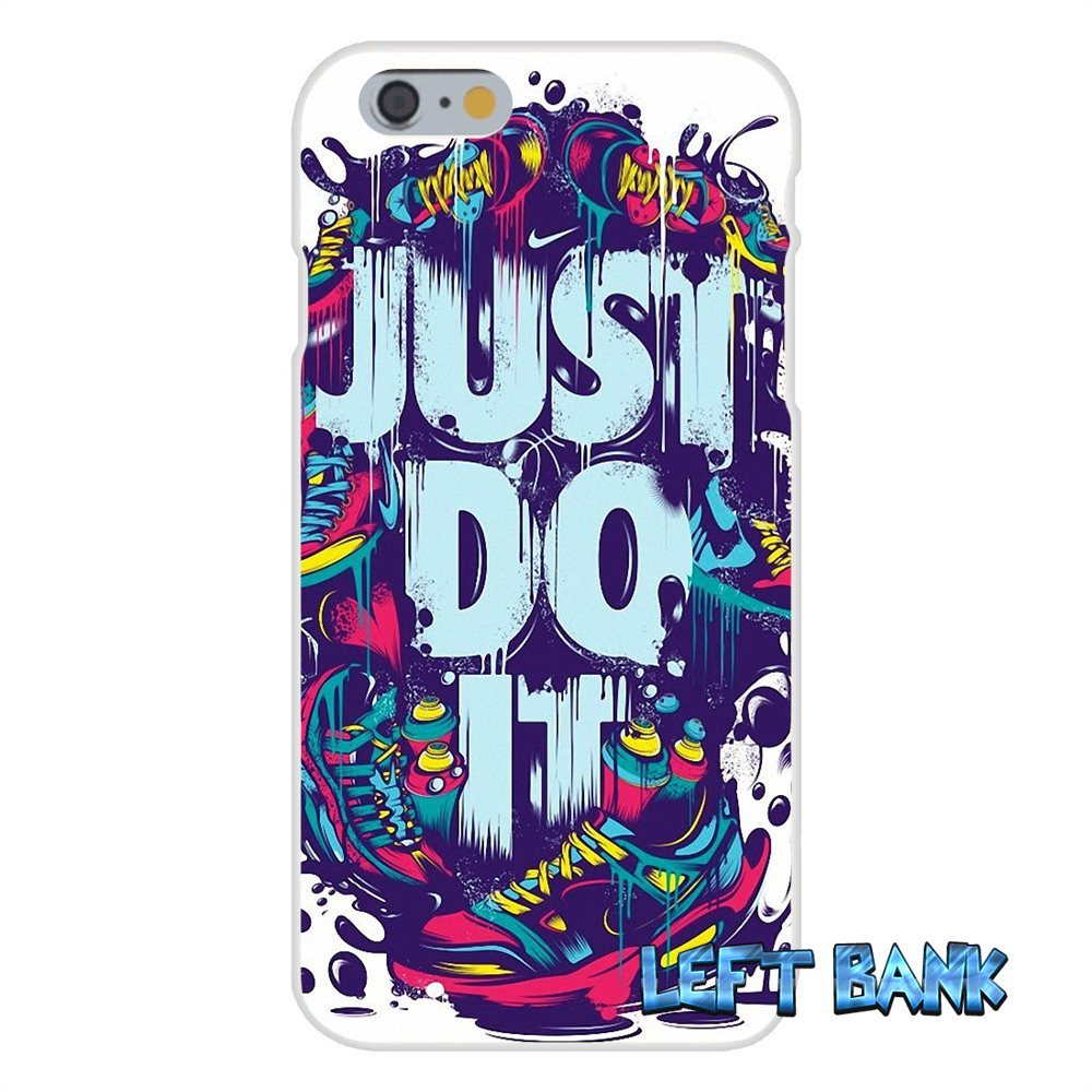 Just Do It Art Dazzle Color Cool Soft Silicone TPU Transparent Cover Case For iPhone 4 4S 5 5S 5C SE 6 6S 7 Plus