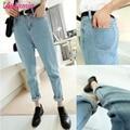 Nueva Llegada Boyfriend Jeans Para Mujeres Moda Loose Jeans Pantalones Estilo BF Más Tamaño Harem Jeans Denim Mujer Pantalones de la Señora Tousers