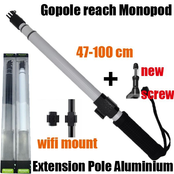 /& 4 Camera new GoPole Arm 2-Piece Extension Kit for GoPro HERO 2 3 3