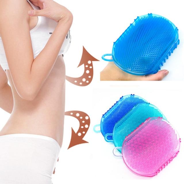 1 pz Silicone Morbido Massaggio Scrub Guanti Per Peeling Del Corpo Spazzola Da B