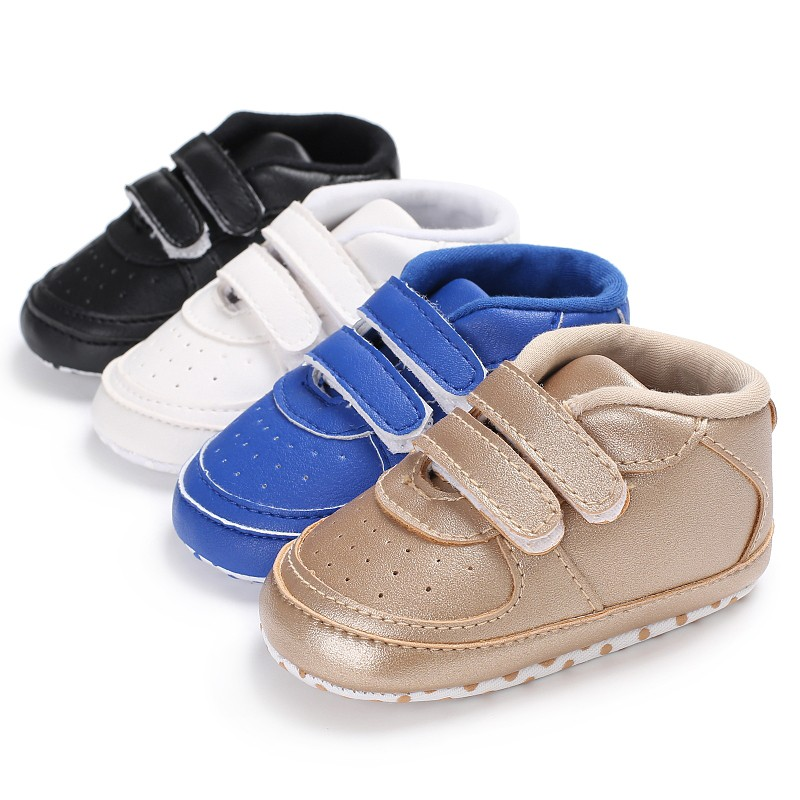 Lovely Newborn Baby Boys Girl Autumn Spring Solid Color Sneakers Toddler Classic Casual Anti-slip First Walkers Shoes