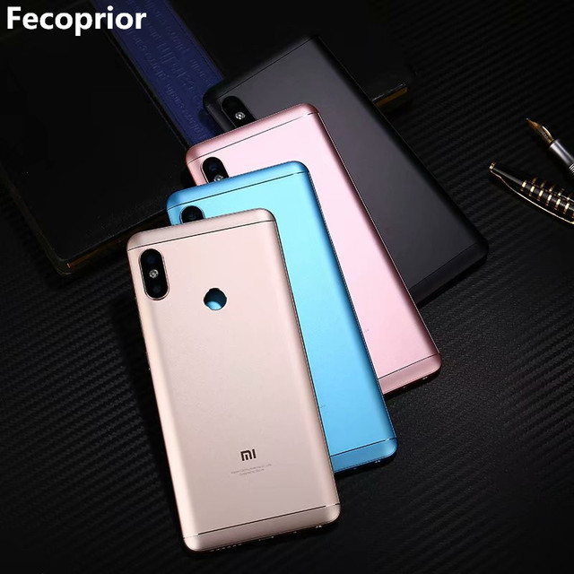 Original Housing For Xiaomi Redmi Note 5 Pro Note5 Metal Battery Back Cover Replacement Parts Case With Lens Buttons