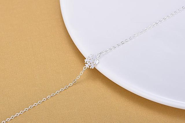 Винтажные модные 925 стерлингового серебра зимние Шарм чешуйка