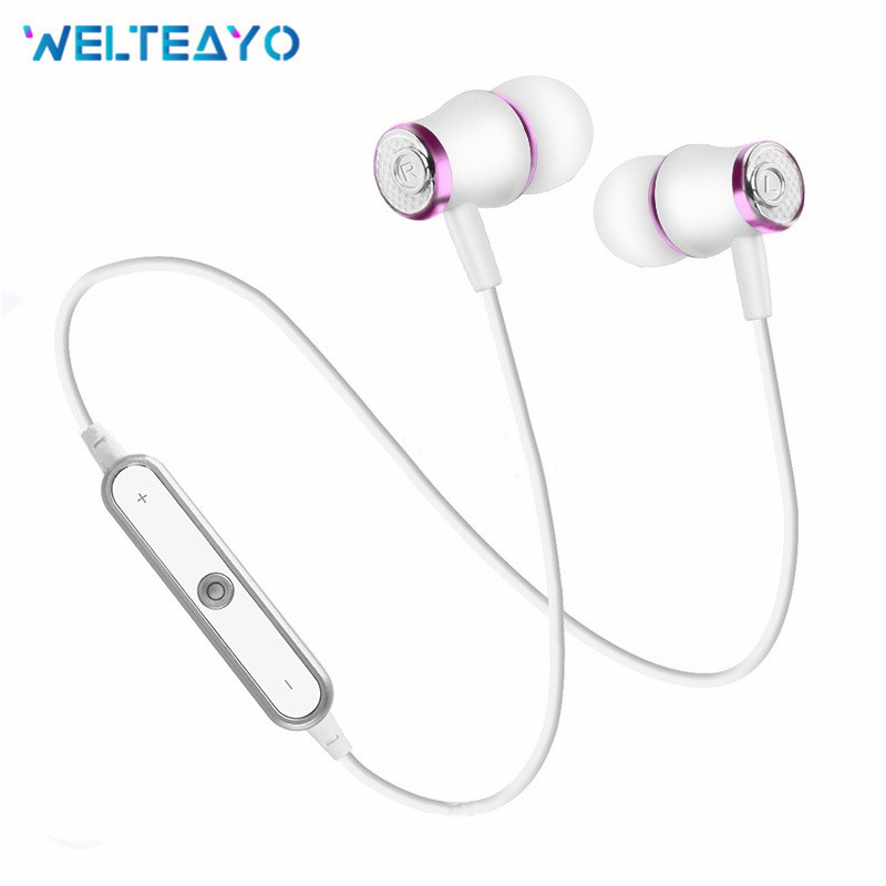 Wire Wireless Bluetooth Earphones Headphone Sports Running Stereo Super Bass Earbuds with Mic Smart Phone MP3 MP4 Headset