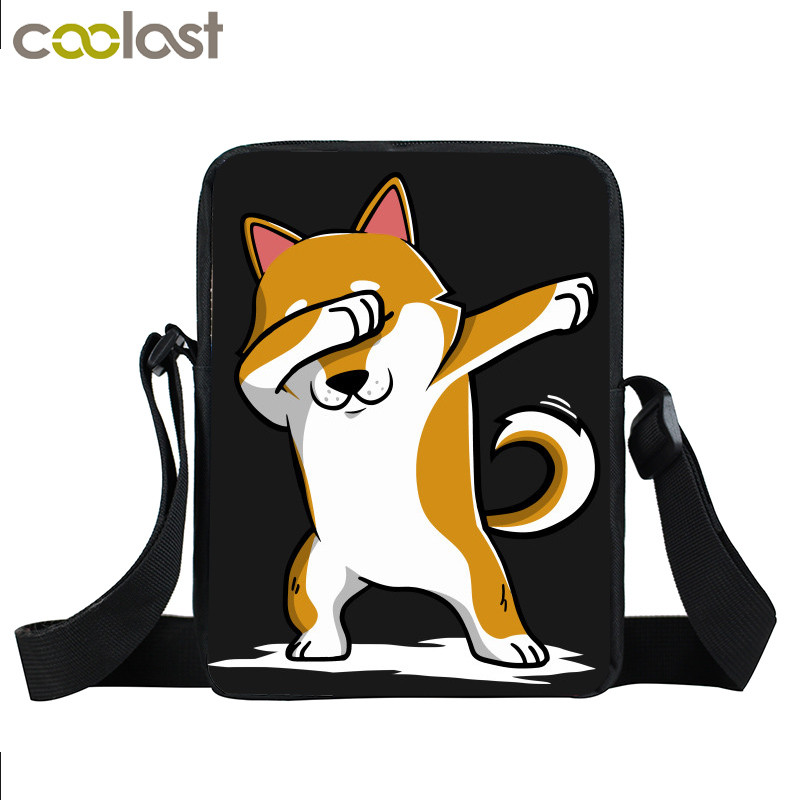 Dab Puppy Shiba Inu German Shepherd Handbag Women Messenger Bag Dab Panda Unicorn Bag Crossbody Children School Bags Gift Purse