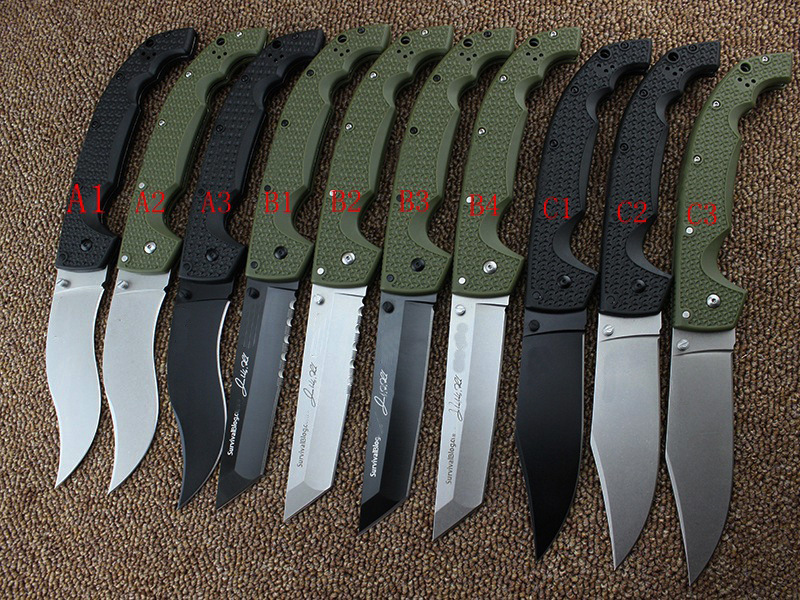 High Quality 9CR18MOV blade Nylon Fiber handle camping folding knife outdoor tactical tool survival folding knife hunting knife high quality trimming knife deburring knife adjustable triangular scraper alumina handle sc1300 blade bd5010