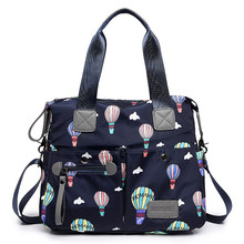 New Women Bag Soft Nylon Bags Waterproof Shoulder Oxford with shoulder strap Cartoon Hot Air Balloon Print
