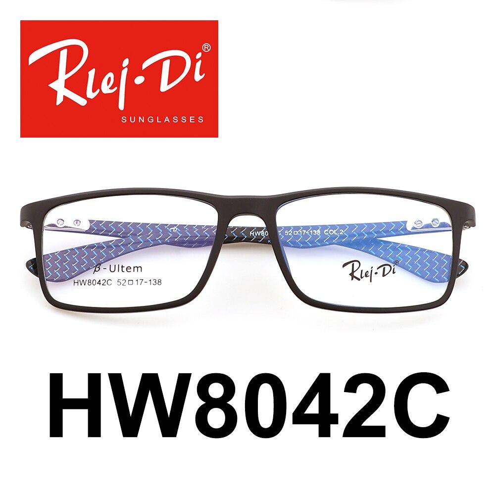 Practical Shauna Carbon Fiber Decoration Tr90 Eyeglasses Prescription Frame Men Resin Lens Ultralight Square Optical Glasses Myopia Men's Glasses Men's Eyewear Frames