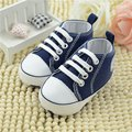 Primavera 2016 Del niño del Bebé Primeros Caminante suela blanda Zapatos de prewalker del bebé, niños recién nacidos antideslizantes marca bebe sapatos edad 0-18 meses