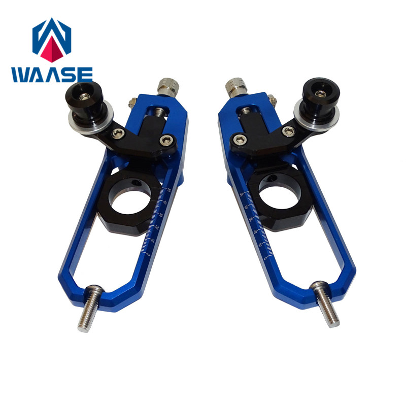 waase MT10 Chain Adjusters with Spool Tensioners Catena For Yamaha YZF R1 R1M R1S 2015 2016 2017 MT-10 FZ-10 2016 2017 waase cnc aluminum chain adjusters with spool tensioners catena for yamaha yzf r1 2004 2005