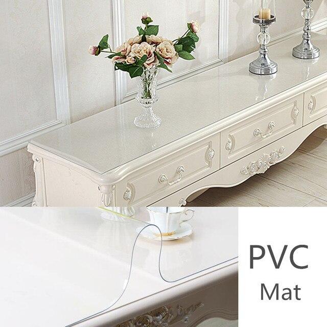 New Design Plastic Tv Cabinet Mat Table Cover Dustproof Transparent