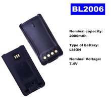 74 v 2000mah литий ионная Радио батарея bl 2006 для hyt walkie