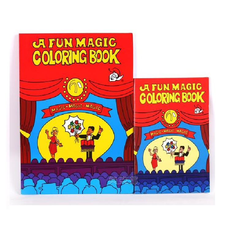 free shipping middle size funny coloring book comedy magic books close up street magic tricks - Coloring Book Magic Trick