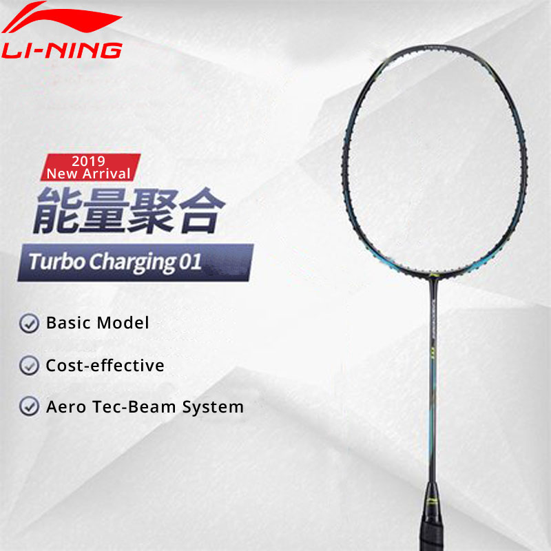 Li Ning Turbo Charging 01 Badminton Racket Ball Control Balance No String Basic Model LiNing Single
