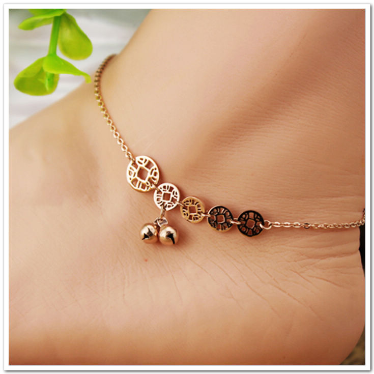 fine italy bracelet anklet ankle womens in jewelry pin gold made