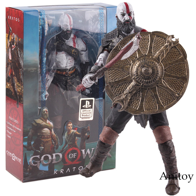 PS4 God of War 4 Kratos Figure PVC Kratos NECA Action Figure Collectible Model Toy games illidan 14 pvc action figure collectible model toy 4 10cm kt2242
