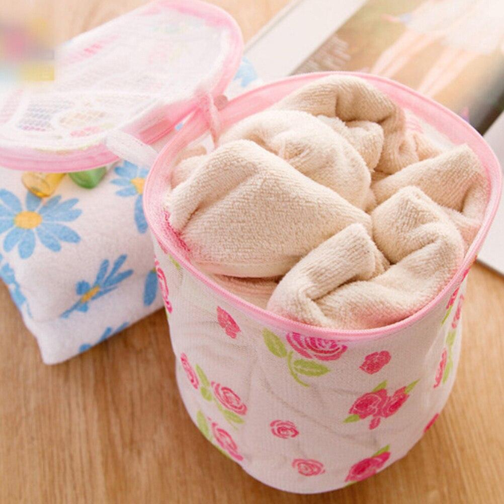 New 1PCS Zipped Wash Bag Mesh Laundry Washing Machine Bag Durable Basket Net For Socks Bra Clothes 2 Colors