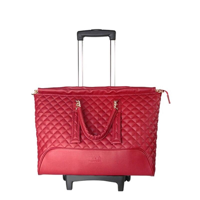 """REISE TALE 16 """"zoll smart gepäck kabine trolly tasche retro tragen auf leder reisetasche für frauen-in Reisetaschen aus Gepäck & Taschen bei  Gruppe 3"""