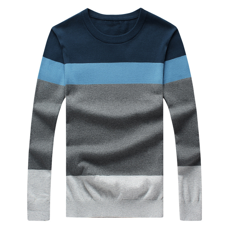 2018 New Sweaters Men Autumn Winter Hot Sale Cotton Quality Pullovers Homme O neck Patchwork Casual