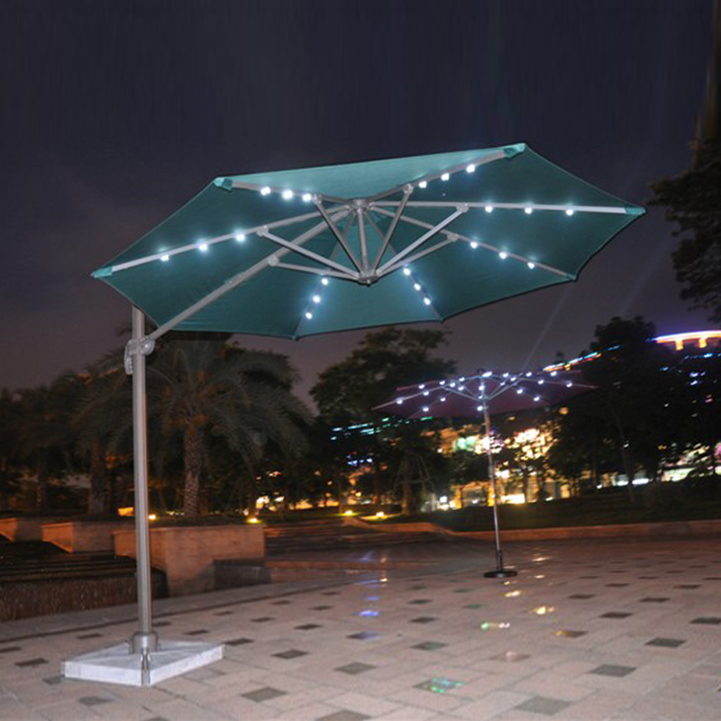 Dia 3 meter 360 degrees rotation aluminum patio parasol sun umbrella with Led light garden sunshade outdoor furniture covers free shipping dia 84cm chinese paper parasol rain sunshade womens umbrella with anthemy picture handmade oiled paper umbrella