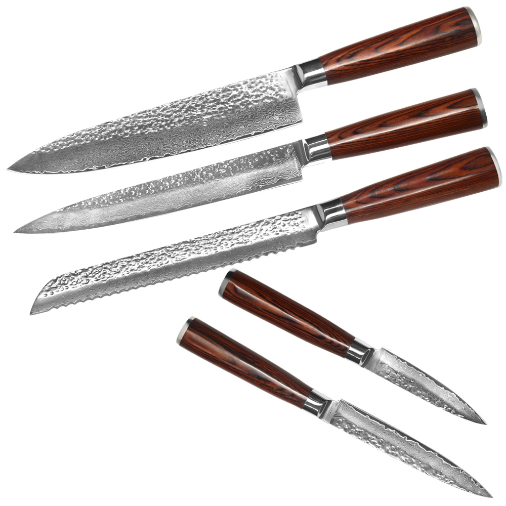kitchen knives brands xyj brand 5pcs kitchen knives high quality vg10 damascus