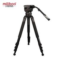 Miliboo Film Broadcast Professionale Treppiede M15L 3 Sezione con Testa Fluida Carico 18 kg Max Altezza 207 cm Diametro Del Tubo 25mm
