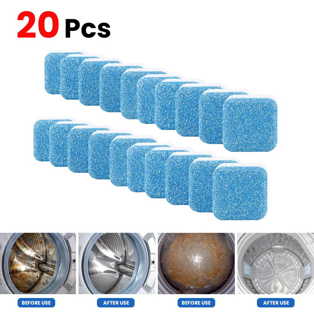 Pokich 1/5/10/20pcs Washing Machine Tank Cleaning Supplies Descaling Cleaner Tablets Effective Descaling Detergent
