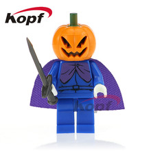 Single Sale Pumpkin Man Horror Movie Halloween Vampire Count Zombie Queen Building Blocks Christmas Toys for children PG1075(China)