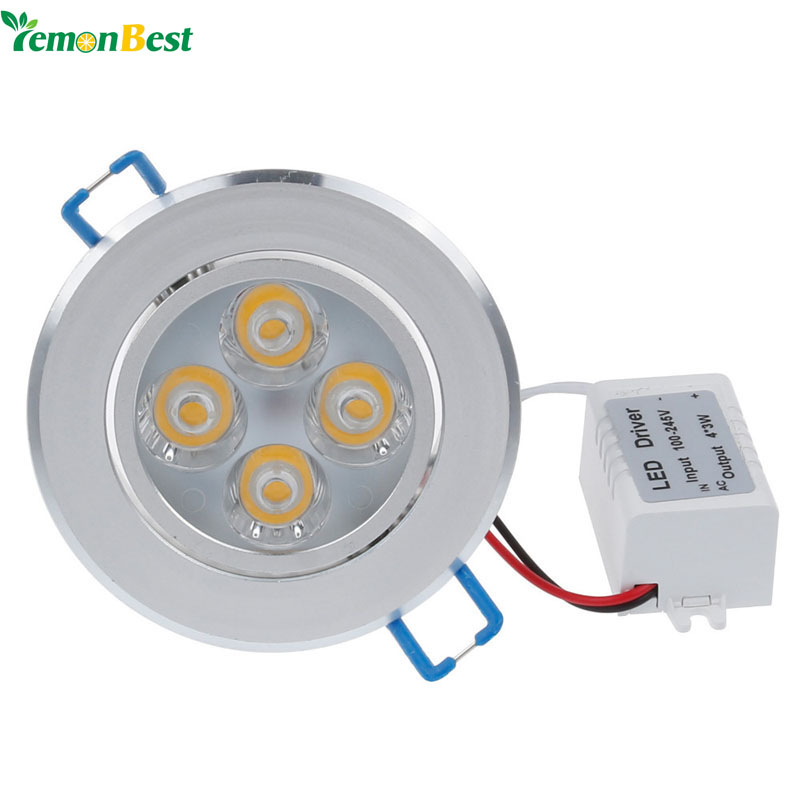 Lemonbest 43w 12w led ceiling down light indoor spot lamp for 4 lamp for downlight