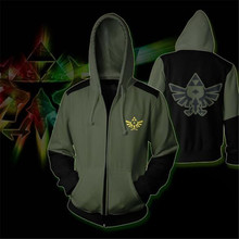Game The Legend of Zelda zipper hoodie Cosplay hoodie men and women casual sports sweater anime costume brand new