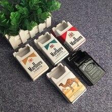 Creative Personality Tobacco cigarette Box Ashtray design Fashion Bedroom Living Room Ash Tray Ceramic Cigarette