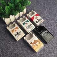 Personalità creativa Scatola di Tabacco di sigaretta Posacenere Modo di disegno Camera Da Letto Soggiorno Ash Tray Posacenere In Ceramica Posacenere Sigarette