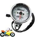 Universal Motorcycle ATV Dual Speedometer Odometer Gauge 0-160km/h Speed Meter with LED Indicator