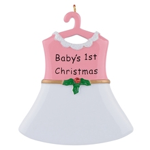 Baby's 1st Resin Hang Boy Suit Personalized Christmas Ornament As Craft Souvenir For Gifts or Home Decor lollipop family of 5 resin hang christmas ornaments with glossy baby face as craft souvenir for personalized gifts or home decor