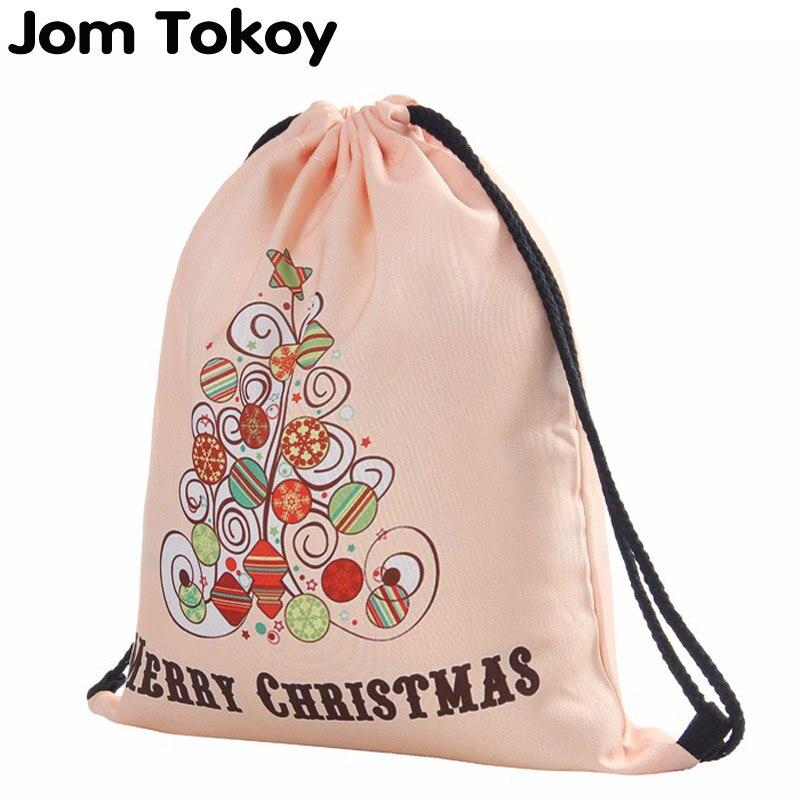 Christmas Tree 3D Printing Women Classic Forever  Brand Mochila Escolar Man  Bags Travel Mochilas Drawstring Bag