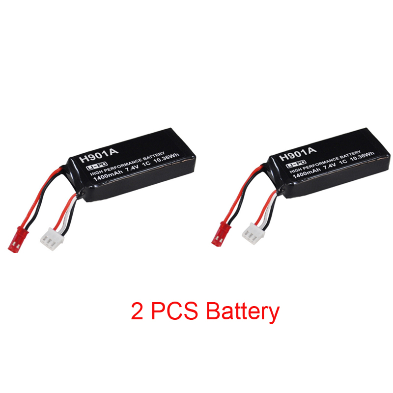 Original 7.4V 1400mAh Rechargeable Lipo Battery For Hubsan H501S H501SS H502S H901A Transmitter Remote Controller H901A Battery