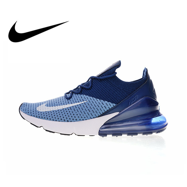 more photos 035f4 13a84 Original Authentic Nike Air Max 270 Flyknit Men s Comfortable Running Shoes  Sport Outdoor Walking Sneakers Breathable