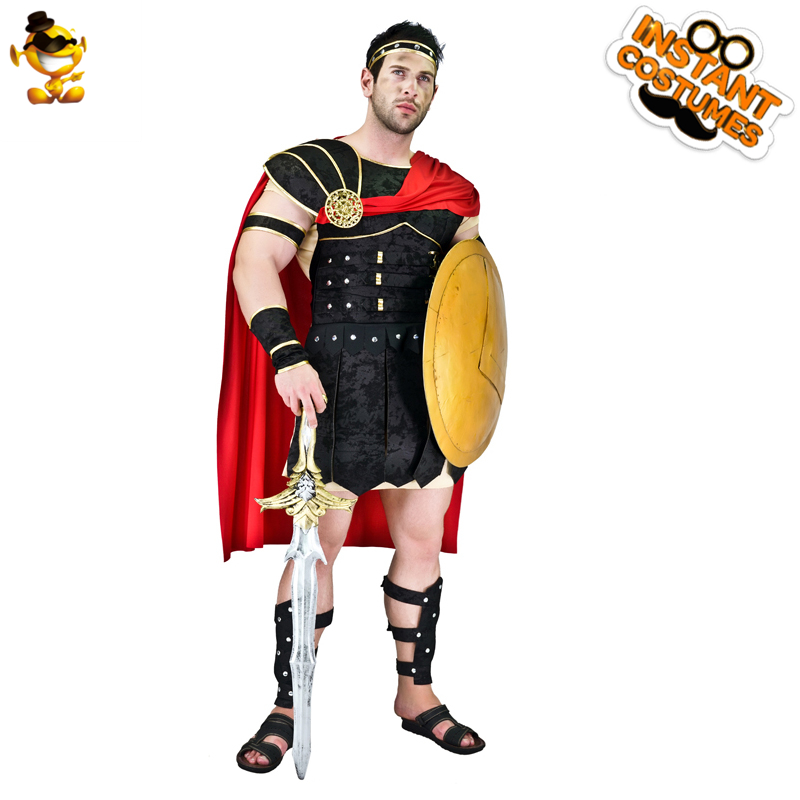 DSPLAY 2019 New Style Fashionable Cosplay Brave Roman Gladiator Clothes Style Temperament New Year Party Costumes Cape Suit