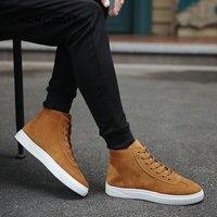 2018 зимняя мужская Вулканизированная обувь мужские кроссовки высокого качества на шнуровке высокие трубы ретро высокие мужские парусиновы...