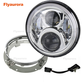 1pcs 7inch LED Headlights For Lada 4x4 urban Niva 2007~2016 For Jeep Wrangler JK 2 Door 2 Hummer H1 H2 For Suzuki Samurai
