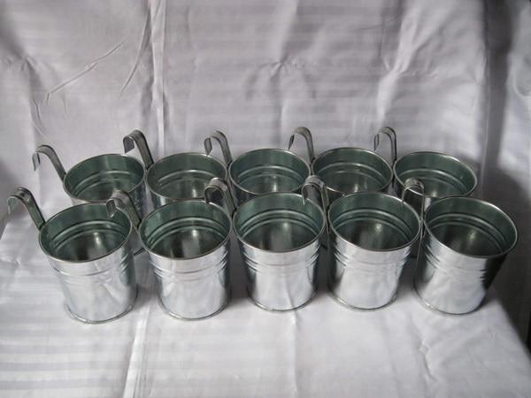 Silvery Color Metal Plant Flower Pot Hook Planter Hanging Wedding Tub flower pots plantersin