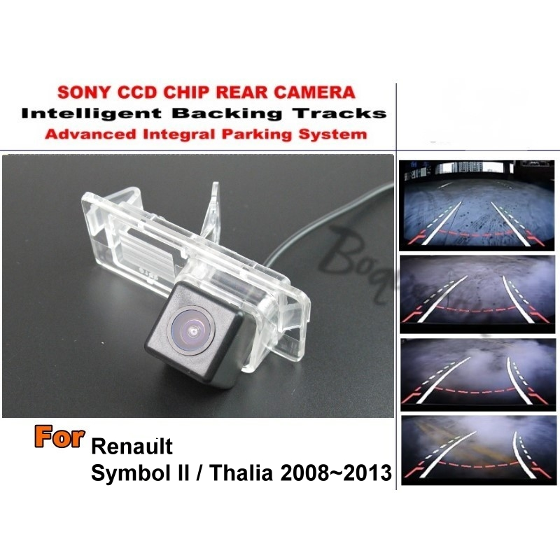 For Renault Symbol II 2 / Thalia 2008~2013 Smart Tracks Chip Camera / HD CCD Intelligent Dynamic Parking Car Rear View Camera for renault duster 2010 2014 smart tracks chip camera hd ccd intelligent dynamic parking car rear view camera