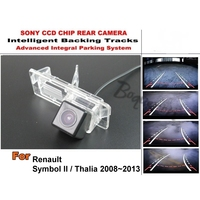 For Renault Symbol II 2 / Thalia 2008~2013 Smart Tracks Chip Camera / HD CCD Intelligent Dynamic Parking Car Rear View Camera