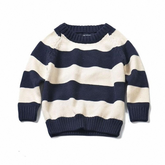 childrren boys girls striped cotton knitted pullover sweater kids casual crew neck long sleeve fall winter sweaters clothes